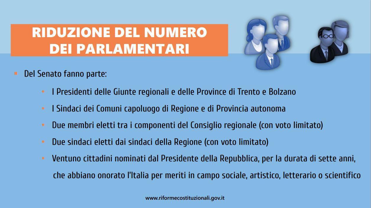 Le slide mai viste della riforma costituzionale for Numero di parlamentari