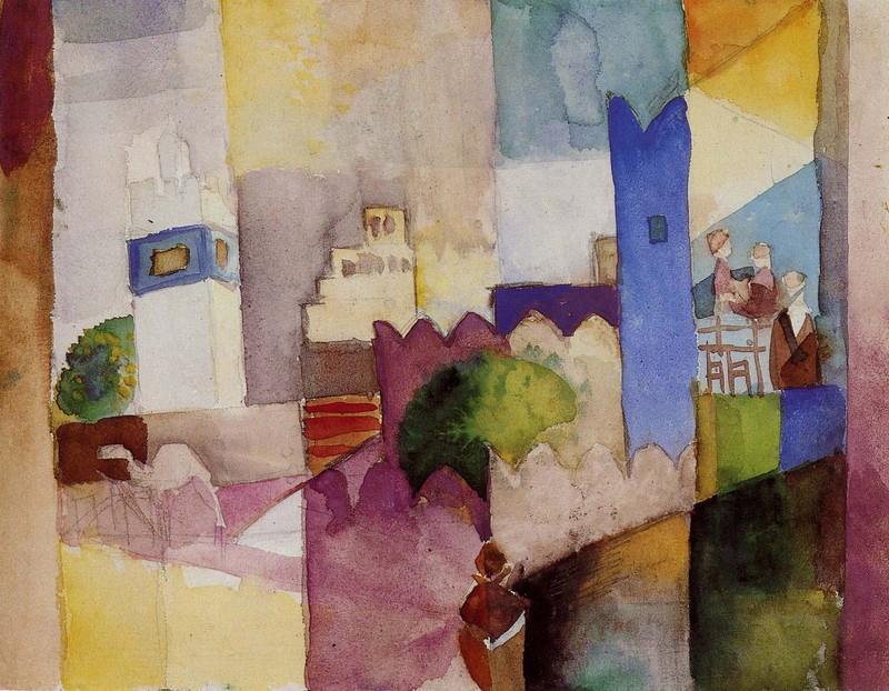 gli acquerelli del viaggio in tunisia di klee macke moilliet photogallery rai news. Black Bedroom Furniture Sets. Home Design Ideas