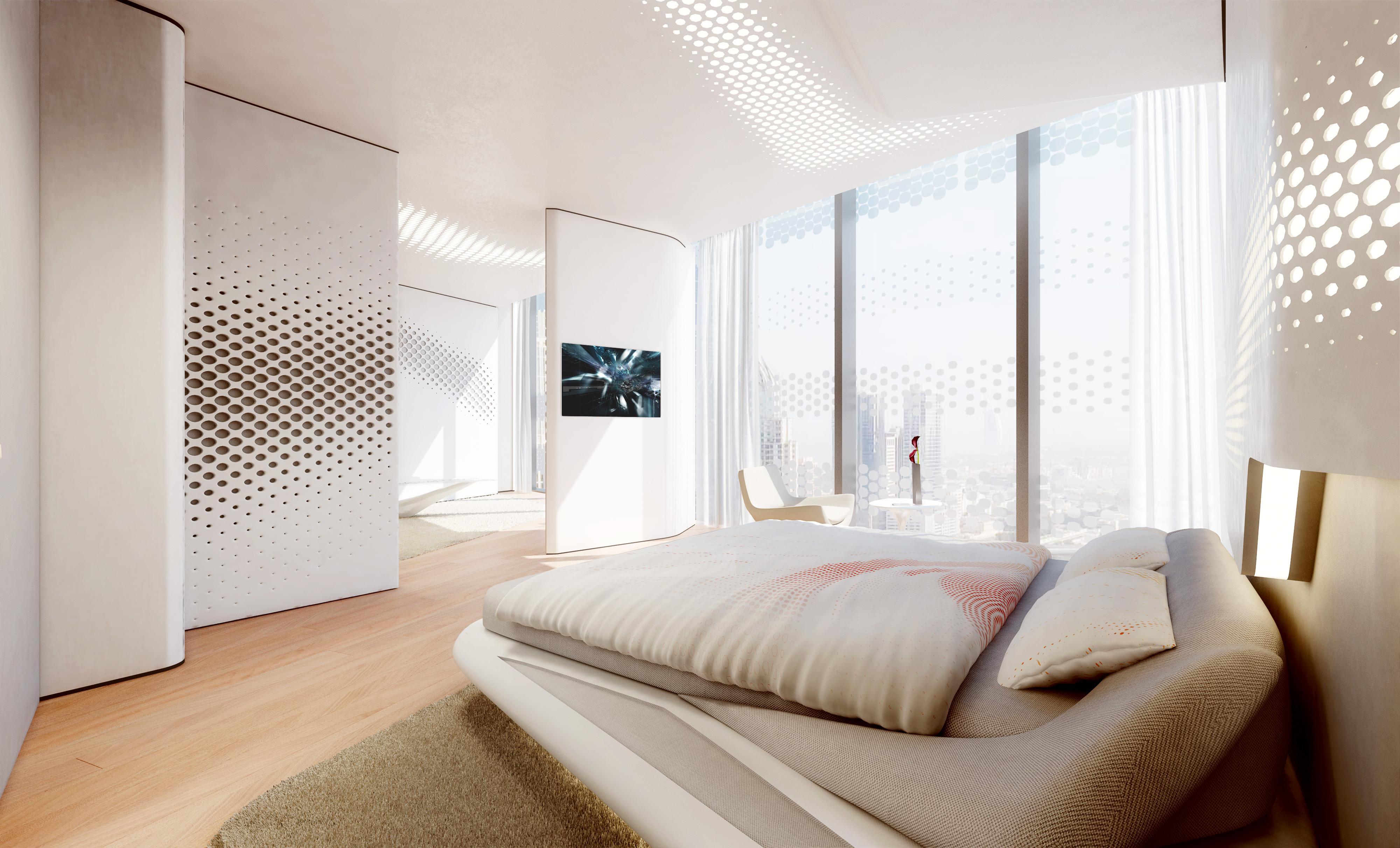 Pareti ondulate finestre dal pavimento al soffitto le for Finestre a soffitto