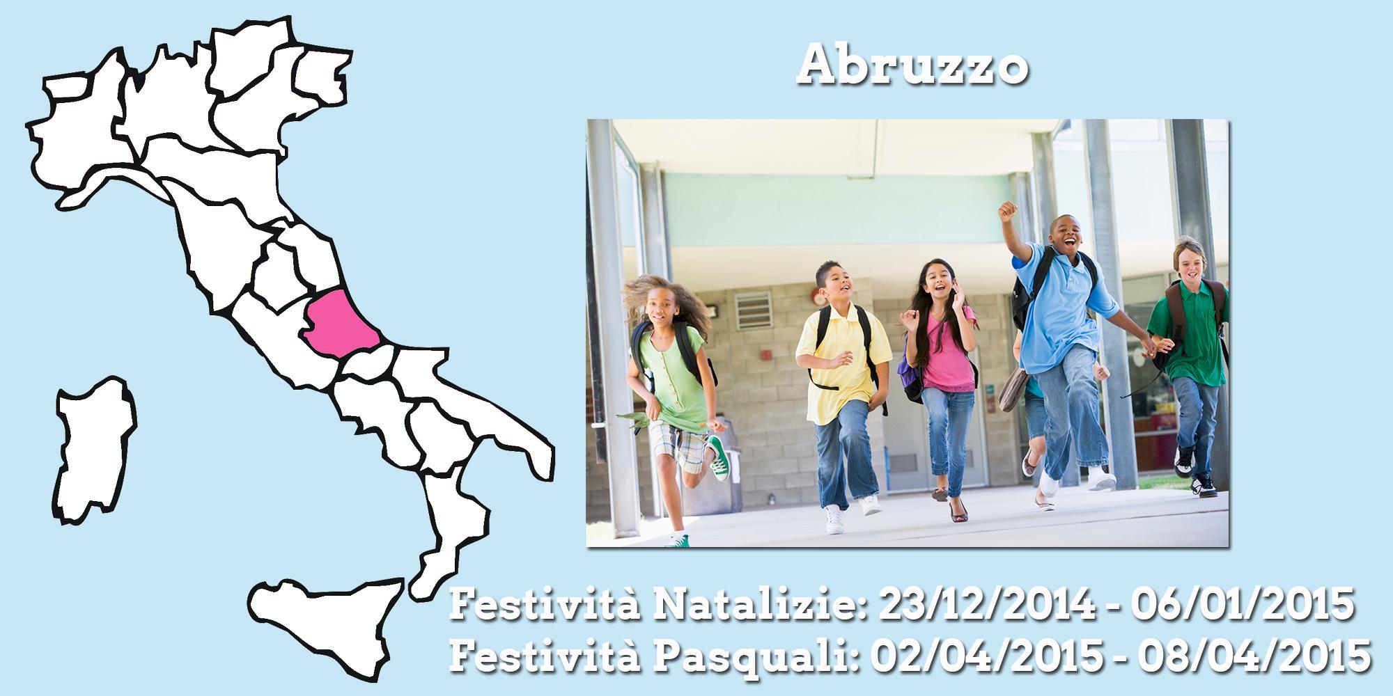 Lo schema del calendario scolastico - festività incluse - Regione per Regione